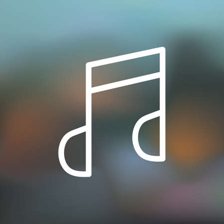 music player icon 向量圖像