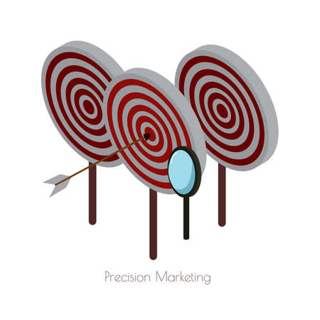 precision marketing 向量圖像