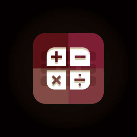 calculation icon 向量圖像