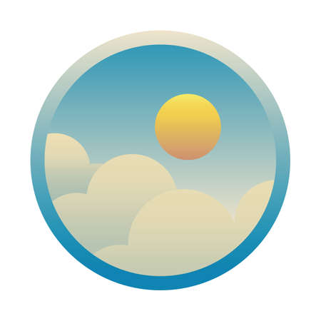 sun with clouds Illustration