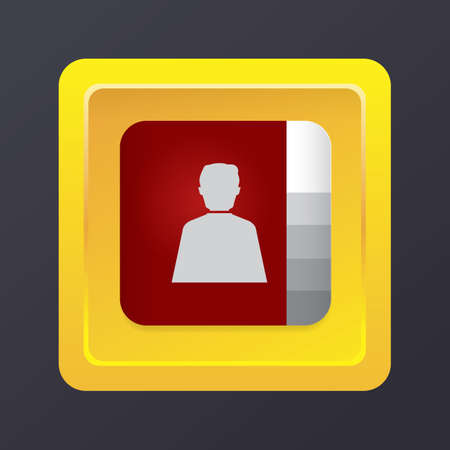 phonebook: phonebook icon Illustration