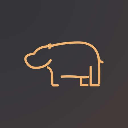 Hippopotame Banque d'images - 81589795