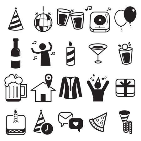 set of party icons Ilustração