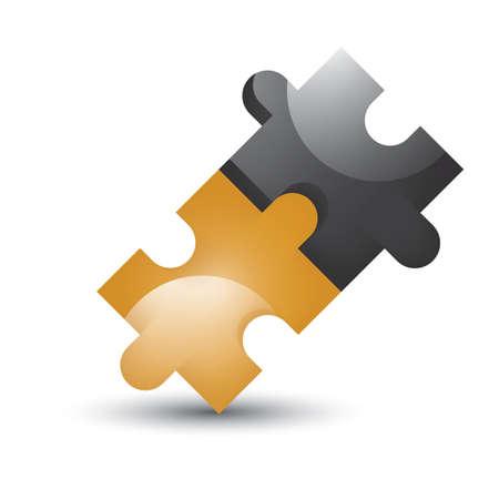 puzzle pieces Ilustração