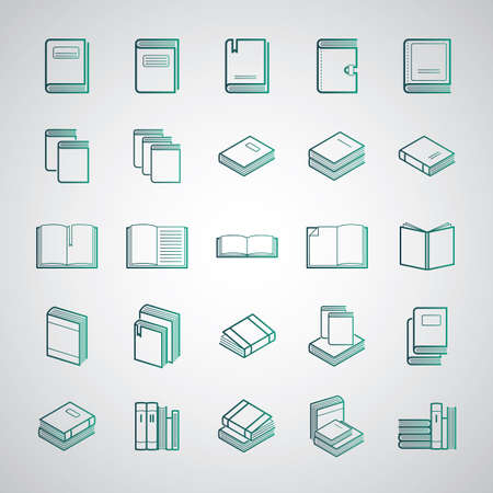 Collection of books and diaries Illustration