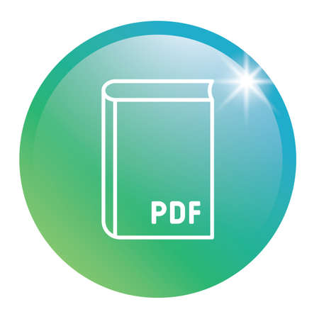 Book glossy button Illustration