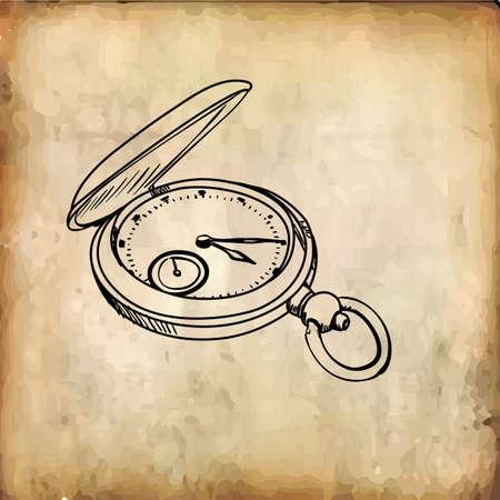 懐中時計  イラスト・ベクター素材