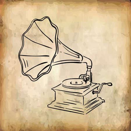 レコードプレーヤー  イラスト・ベクター素材