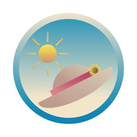 sun and beach hat Illustration