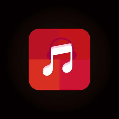 music player icon Illustration