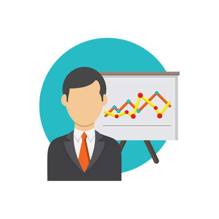 実業家と分析  イラスト・ベクター素材