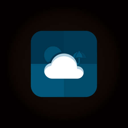 cloud storage icon 向量圖像