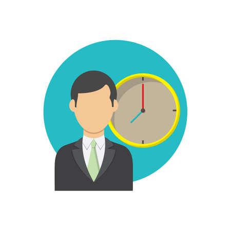 사업가 및 시계