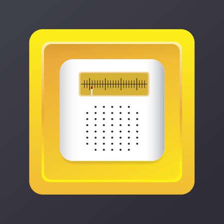 fm: fm radio icon Illustration