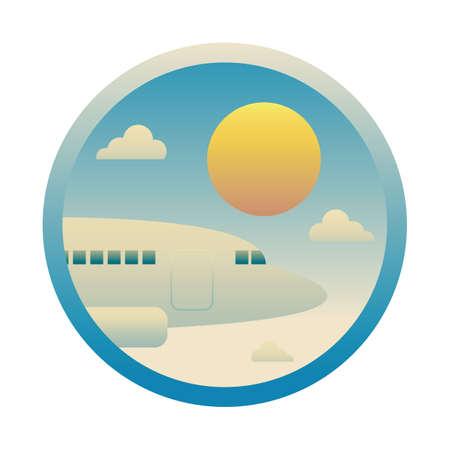 airplane and sun