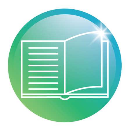 Book glossy button 向量圖像