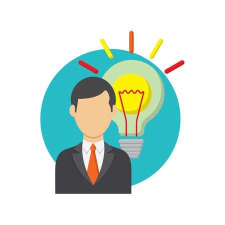 実業家と電球