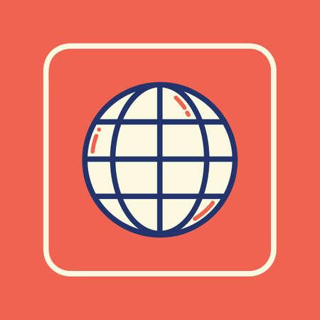 globe icon  イラスト・ベクター素材