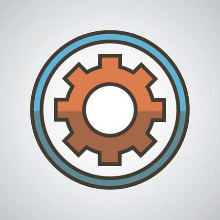 settings icon Stock Vector - 106668902
