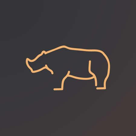 Nashorn Vektorgrafik