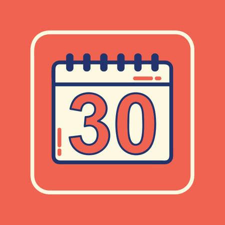 calendar icon Ilustracja