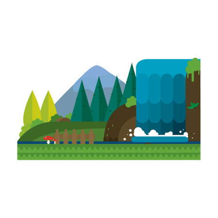 landschap van de natuur Stock Illustratie
