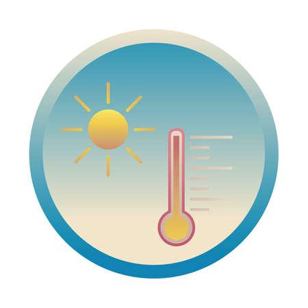 sol con termómetro