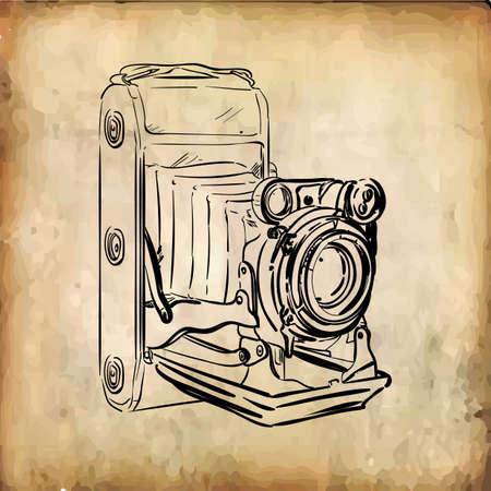レトロなカメラ  イラスト・ベクター素材