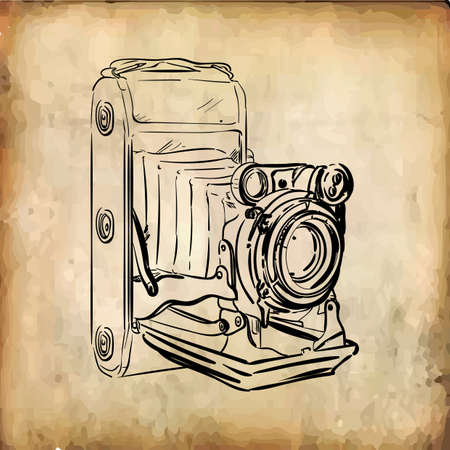 retro camera Stock Illustratie