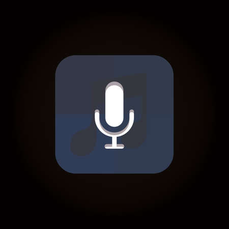 voice recorder icon 向量圖像