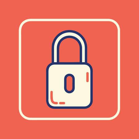 lock icon Archivio Fotografico - 106668957