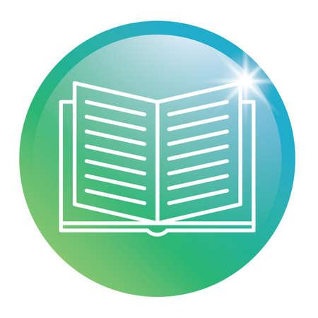 本の光沢のあるボタン  イラスト・ベクター素材