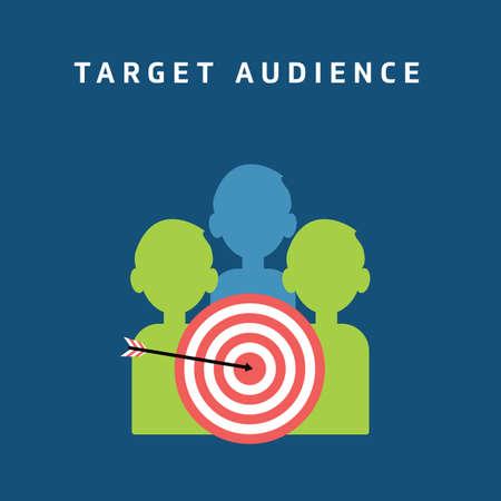 target audience 向量圖像