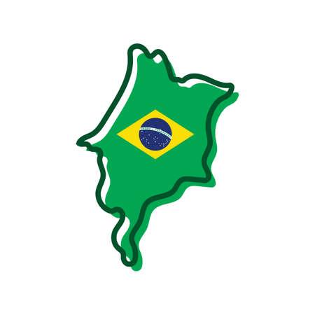 maranhao map Ilustração