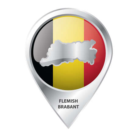 map pointer with flemish brabant map