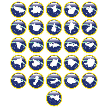 brazil map icons Illustration