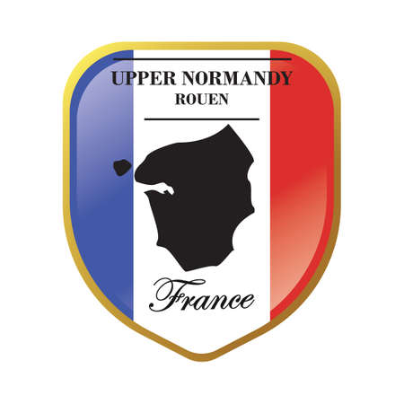 upper normandy map label