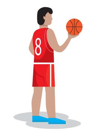 basketballer Stock Illustratie