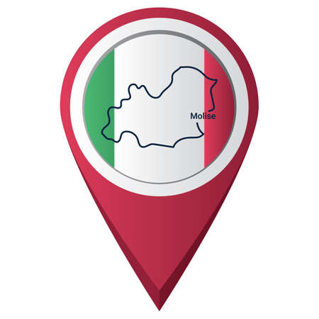 Map pointer with molise map