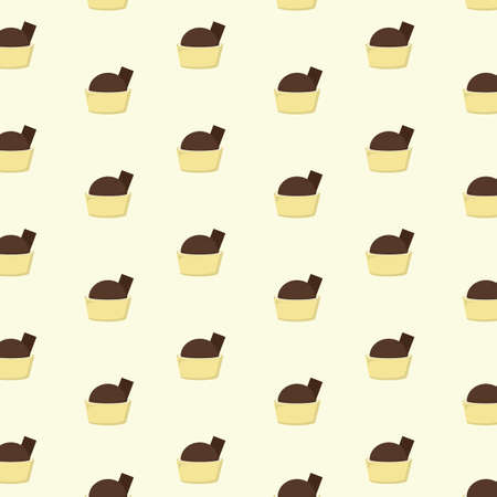 background with mini chocolate desserts
