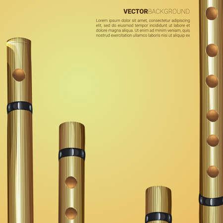 Flute background Illusztráció
