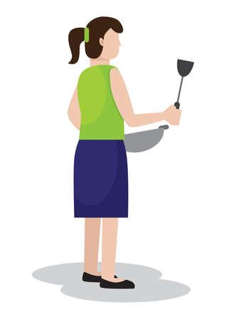housewife Ilustracja