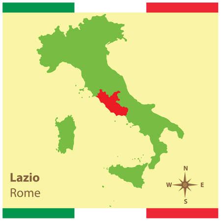 lazio on italy map