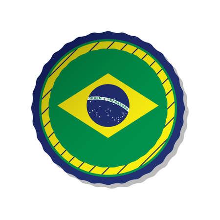 brazil flag label