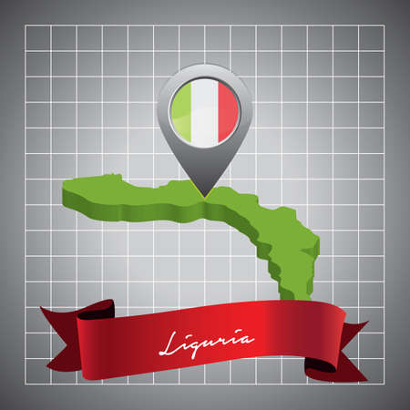 liguria map with map pointer
