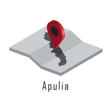 apulia map with map pointer