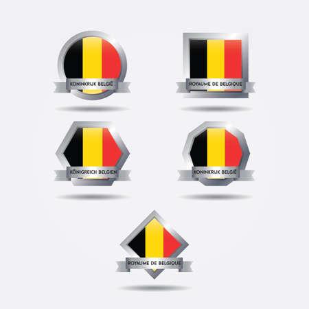 set of belgium flags Illustration