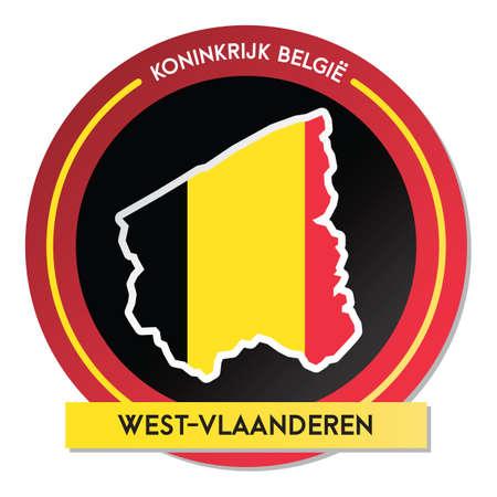west-vlaanderen map sticker