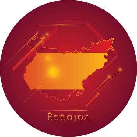 badajoz map Ilustrace