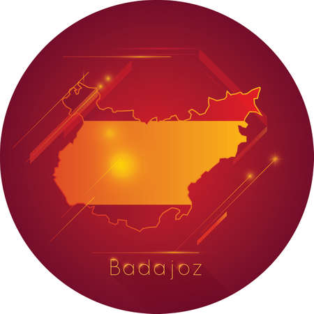 badajoz map Illustration